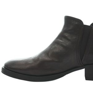 TORY BURCH BROWN LEATHER ANKLE BOOTS SIZE 11
